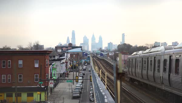 Hand-held shot of a subway in Philadelphia Royalty-free stock video