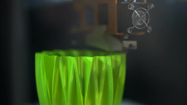 3D printer is printing a plastic element Royalty-free stock video