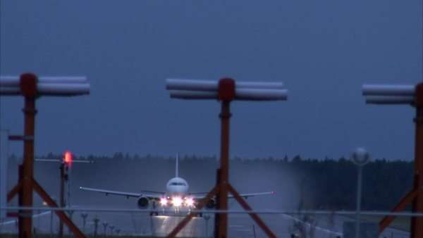 Airplane departures, Sweden. Royalty-free stock video