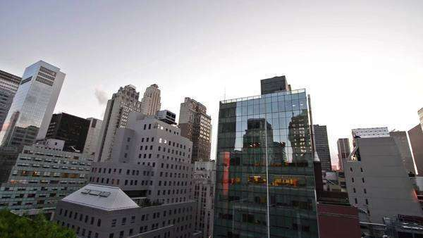 New York buildings from rooftop Royalty-free stock video