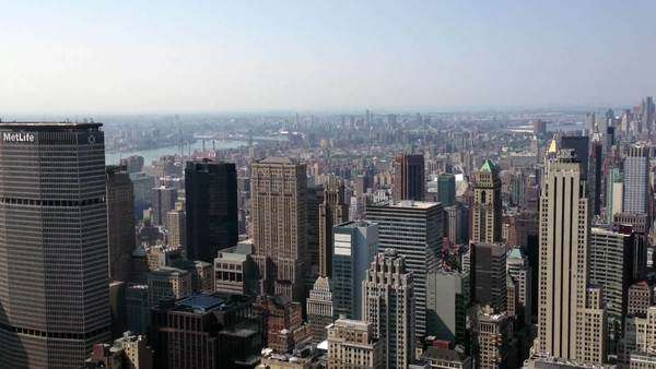 New York panoramic skyline Royalty-free stock video