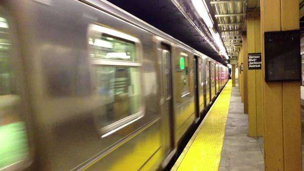 New York subway train Royalty-free stock video