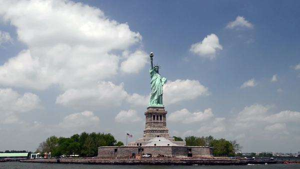 Statue of Liberty day Royalty-free stock video