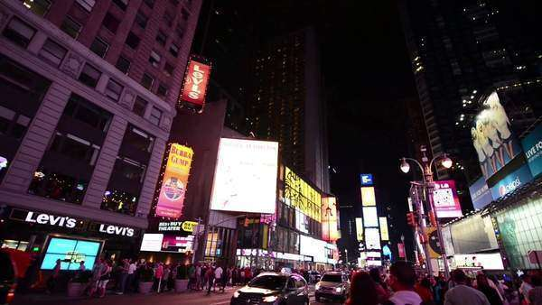 Times Square night Royalty-free stock video