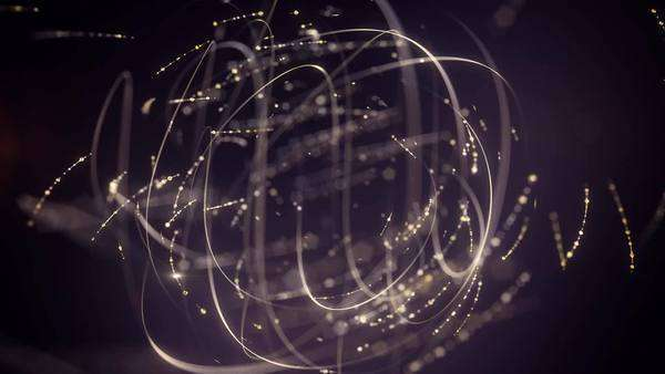 Abstract moving lines creating elegant ball shaped element. Sparkling. Royalty-free stock video