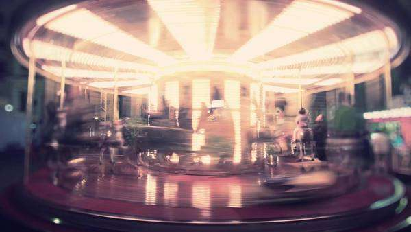 Loopable carousel timelapse shot in Florence, Italy Royalty-free stock video