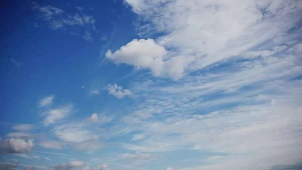 Blue sky clouds timelapse. Two dimensional clouds movement. Royalty-free stock video