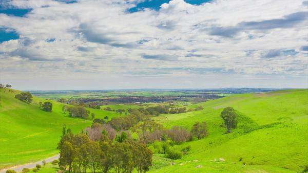 Timelapse video of a beautiful valley in Barossa Valley, South Australia Royalty-free stock video