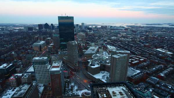 A timelapse view of Boston at dusk Royalty-free stock video
