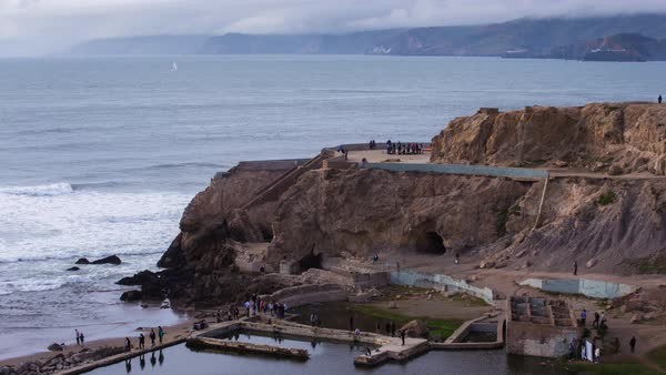 Sutro Baths, San Francisco Timelapse. Rights-managed stock video