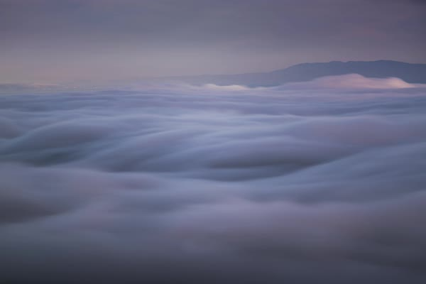 Above San Francisco fog long exposure timelapse Rights-managed stock video