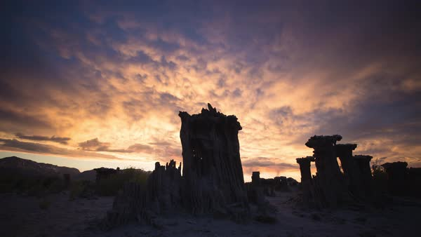 Mono lake sunset timelapse Rights-managed stock video