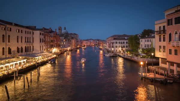 Venice Italy, Grand Canal Timelapse Rights-managed stock video