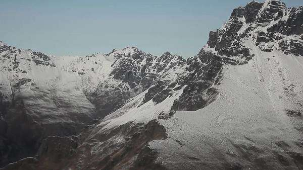 Aerial shot of snow-covered mountains Royalty-free stock video