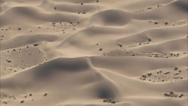 Aerial shot of sand dunes in a desert Royalty-free stock video