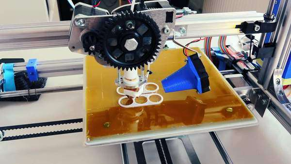 Print prototype on 3D printer Royalty-free stock video