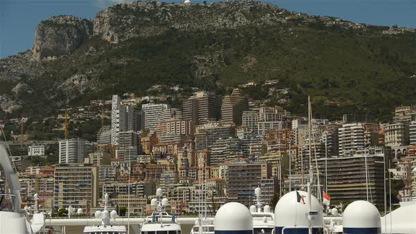Skyline at Monaco, Cote D'Azur France Royalty-free stock video