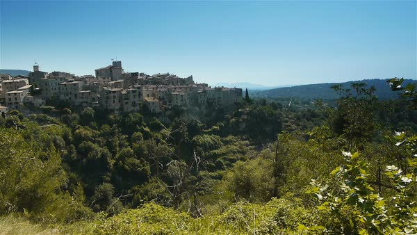 Landscape at Col de Vence in South France Royalty-free stock video