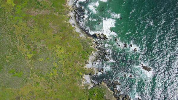 Aerial view of California Coastline along the Big Sur, USA Royalty-free stock video