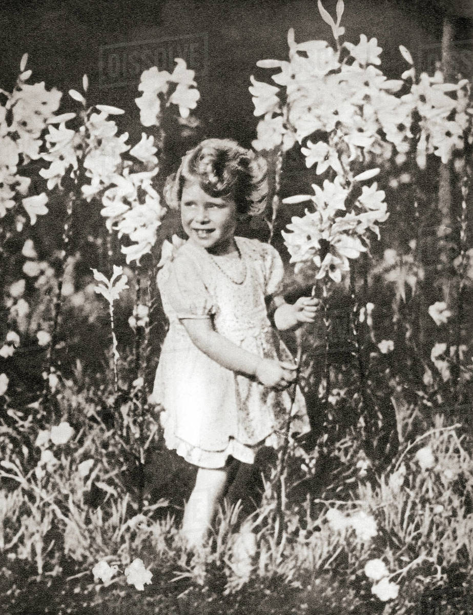Princess Elizabeth of York aged 4, seen here in a photograph taken by her  father King George VI  Princess Elizabeth of York, future Elizabeth II,  born