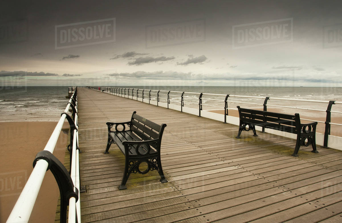Strange A Wooden Pier With Benches Looking Out Over The Beach D869 43 126 Pdpeps Interior Chair Design Pdpepsorg