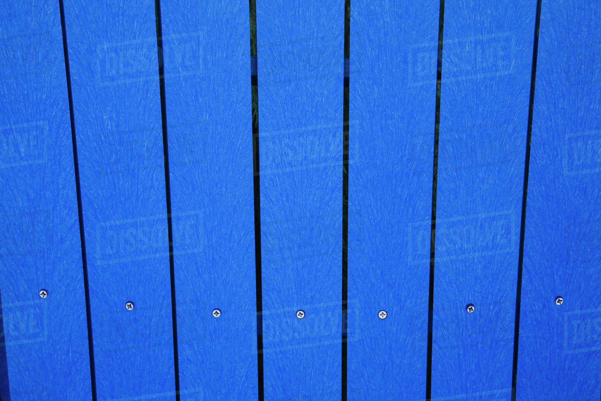 Close Up Of The Blue Planks Composite Materials Plastic And Wood In A Garden Chair Back Quebec Canada