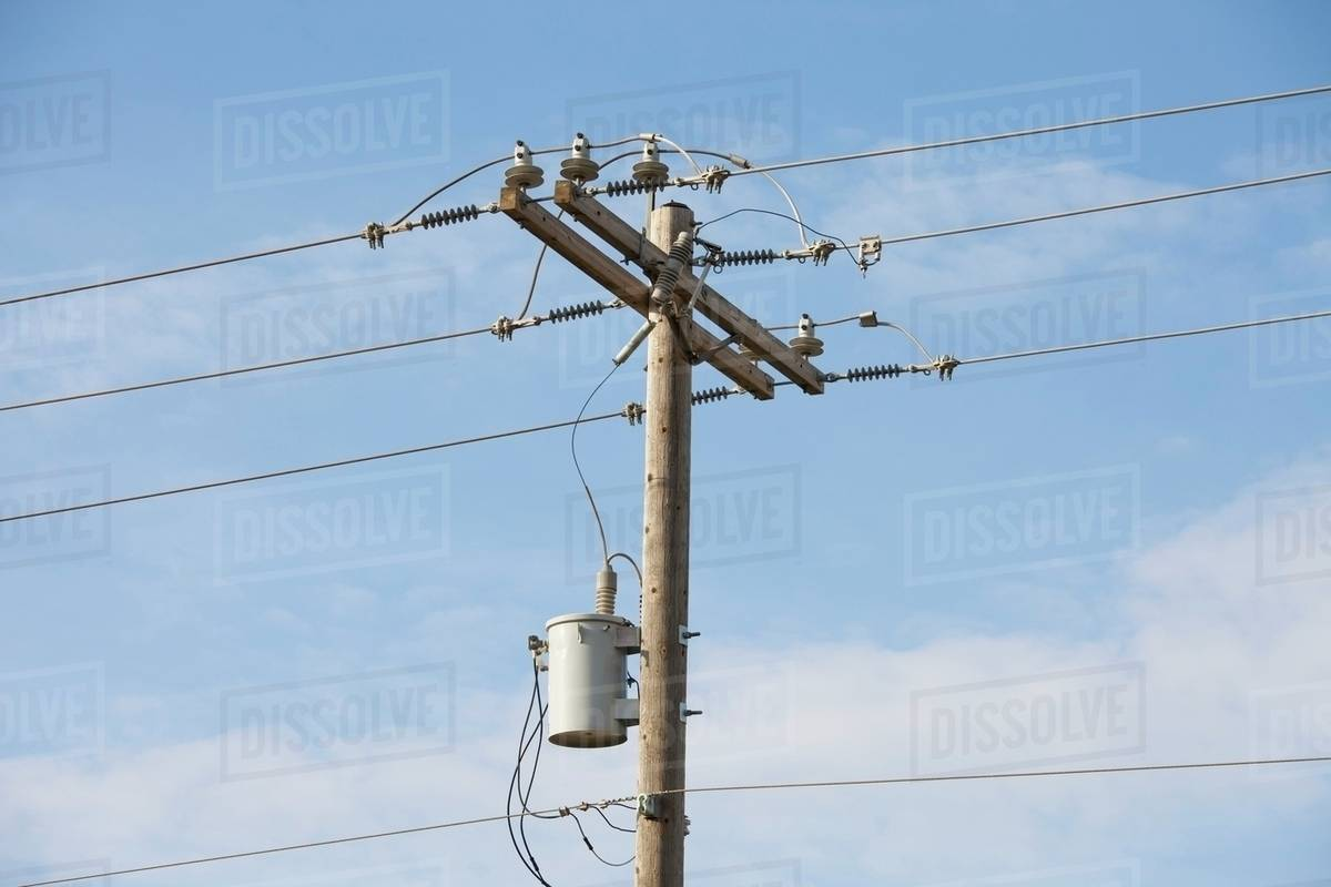 Wood Power Poles Sizes : Wooden power pole with a transformer edmonton alberta
