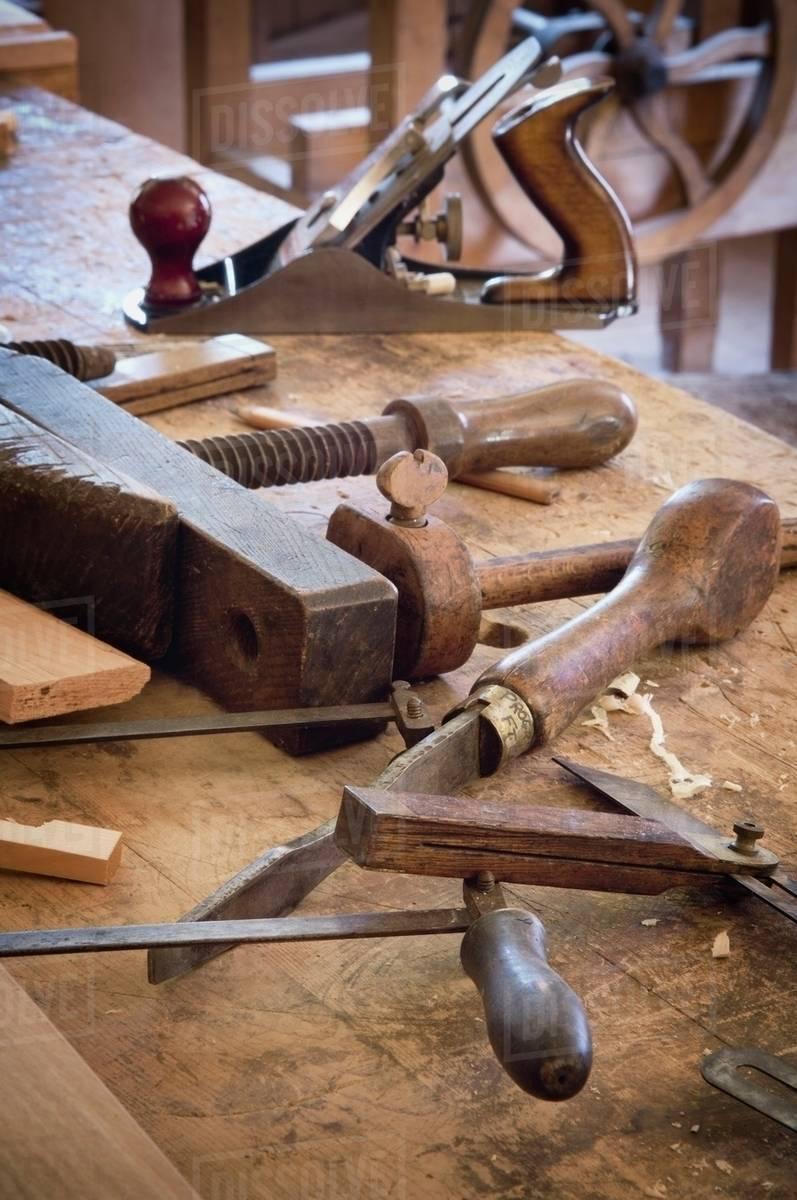 Fort Edmonton Alberta Canada Antique Woodworking Tools D869 66 736