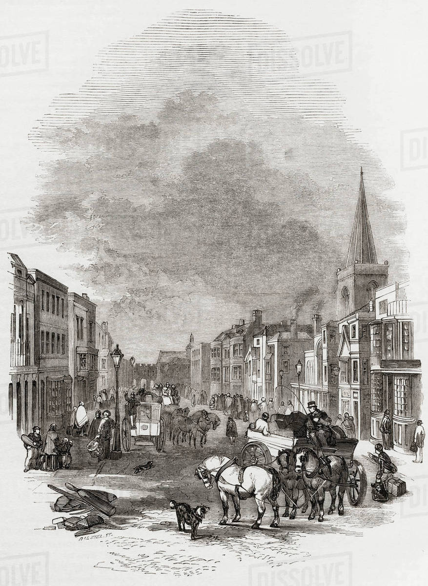 Southampton England In The 19th Century View Down High Street