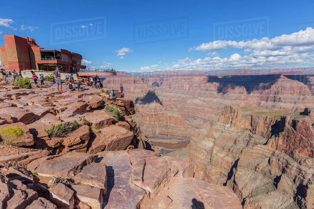 The Beautiful Viewpoint At The West Grand Canyon Skywalk Attraction D869 93 052