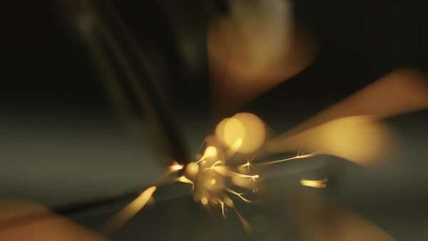 Macro shot of a metal grinder cutting a steel bar in slowmotion Royalty-free stock video