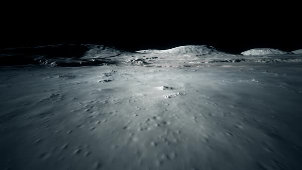 Seamless Textured Of Moon's Surface Royalty-free stock video
