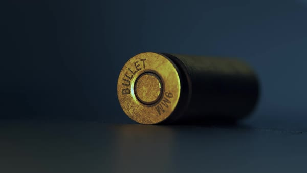 Close-up Of mm Bullet Casings Falling Down Royalty-free stock video