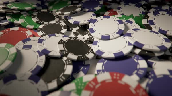 Loopable shot of casino chips on a pile Royalty-free stock video
