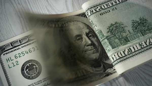 Close-up shot of counting  100 dollar bills Royalty-free stock video