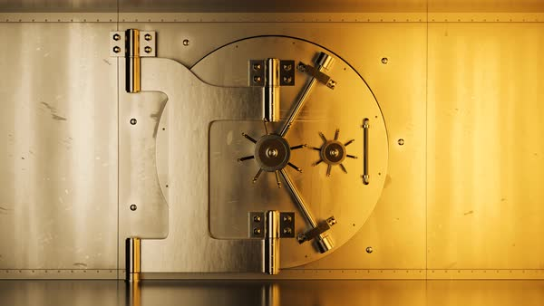 Luxury safety vault in bank Royalty-free stock video