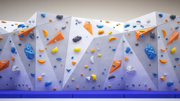Loop animation of indoor climbing wall. Royalty-free stock video