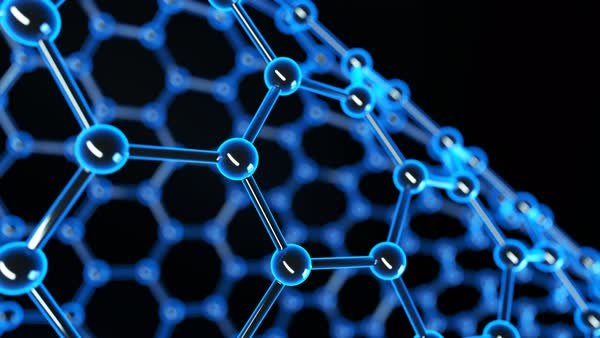 Nanotubes atom like nanostructure loopable animation. Nanotechnology, science background. Royalty-free stock video