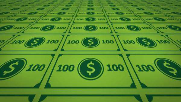 Seamless Printed Uncut Sheets Of Hundred Dollar Notes. Royalty-free stock video