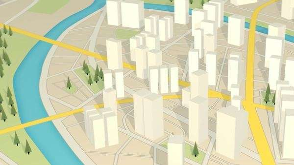 3D View of abstract city map. GPS navigation Skysers cityscape ...  D Mapping Free on strategy mapping, food mapping, architecture mapping,