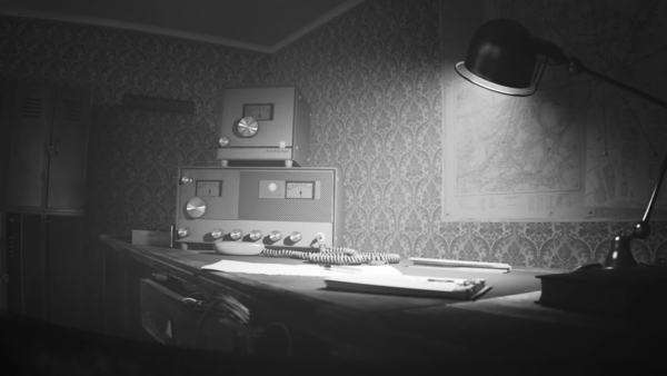 Vintage Old Radio On Desk With Lighted Lamp Royalty-free stock video