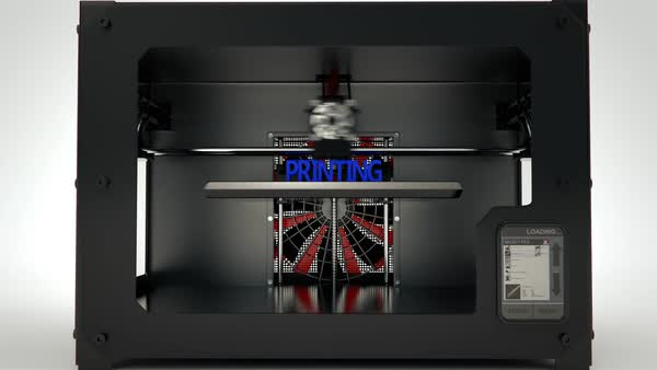 3d Printer Lettering Text '3d Printing' Royalty-free stock video