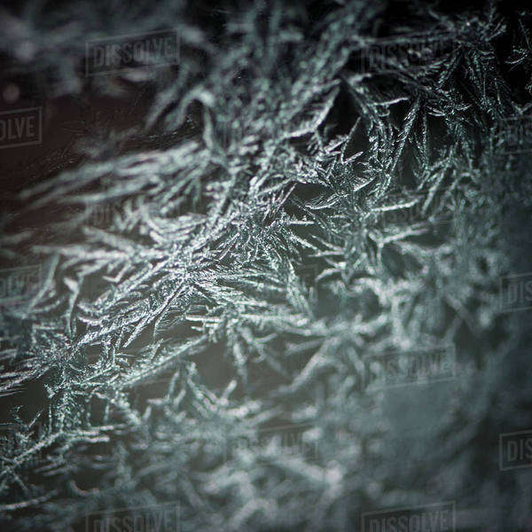 Close-up of frost on glass Royalty-free stock photo