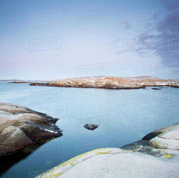 Rocks by sea on the West Coast of Sweden Royalty-free stock photo