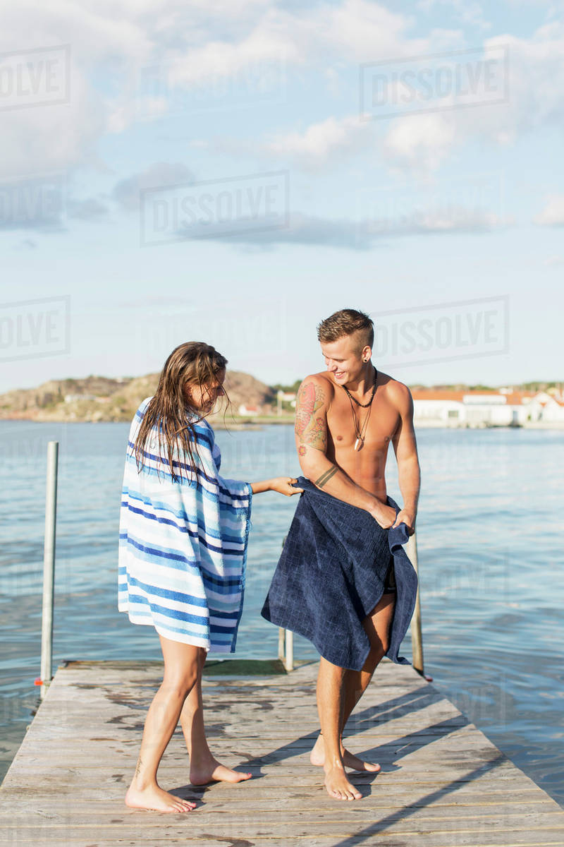 Suggest you pulling towel from girls suggest you