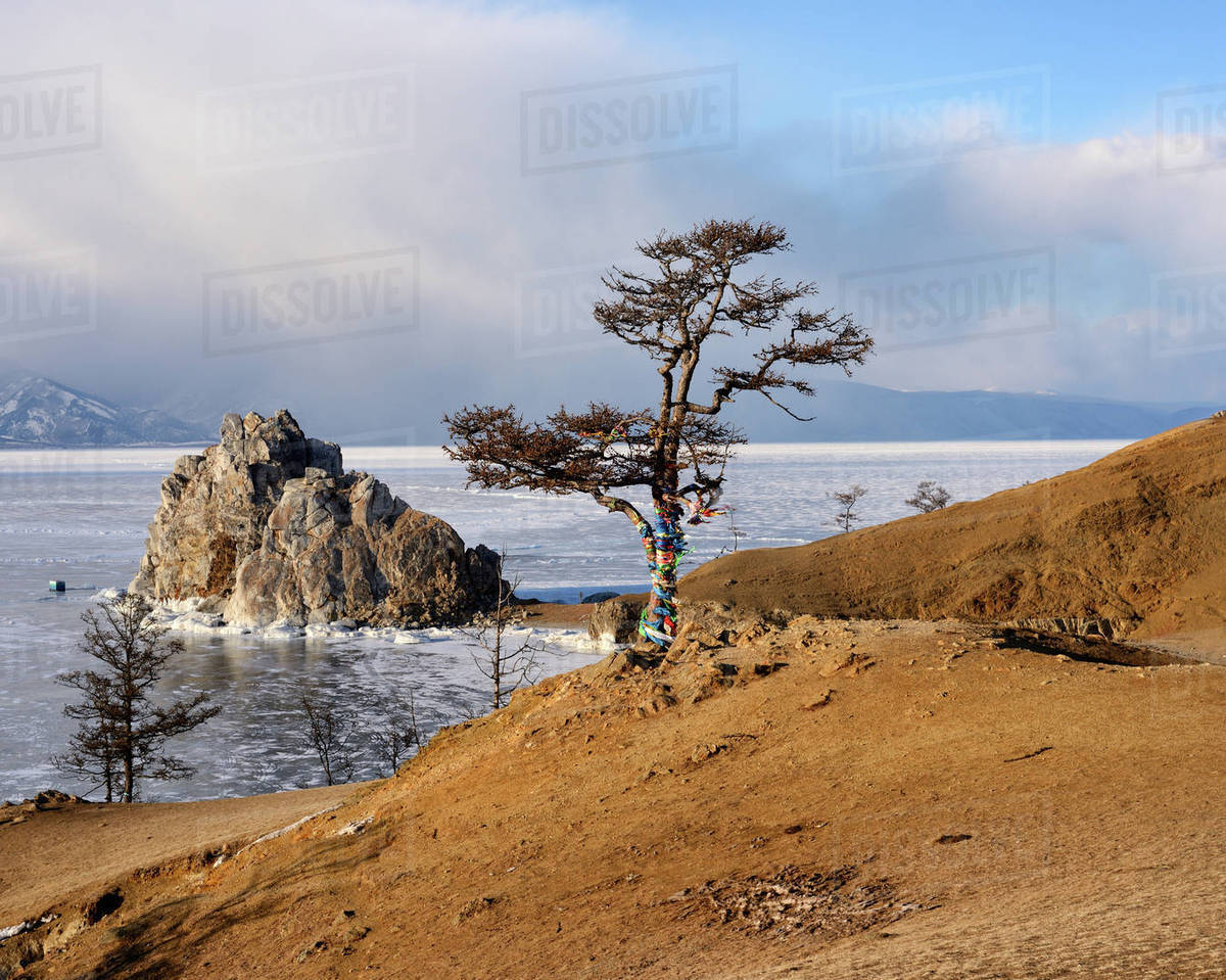The nature of the island of Olkhon on Baikal