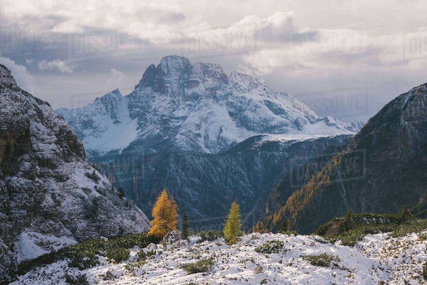 Tre Cime di Lavaredo area, South Tyrol, Dolomite Alps, Italy Royalty-free stock photo