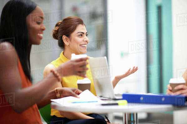 Business women with laptop in meeting Royalty-free stock photo