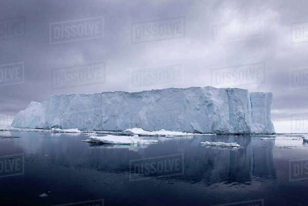 Iceberg in the Southern Ocean, 180 miles north of East Antarctica, Antarctica Royalty-free stock photo