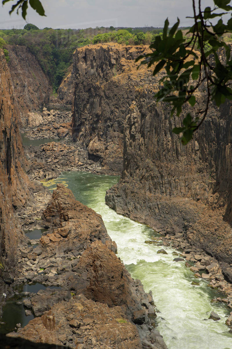 Elevated View Of River Gorge At Victoria Falls Zimbabwe Africa D943 240 536